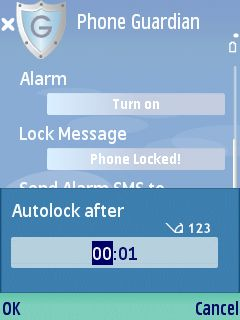 2b Phone Guardian review   lock your Series 60 phone automatically