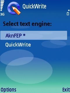 0a QuickWrite for S60   speed up your text input