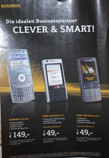 overviewtnl Sony Ericsson G700 for sale at Austrian carrier A1