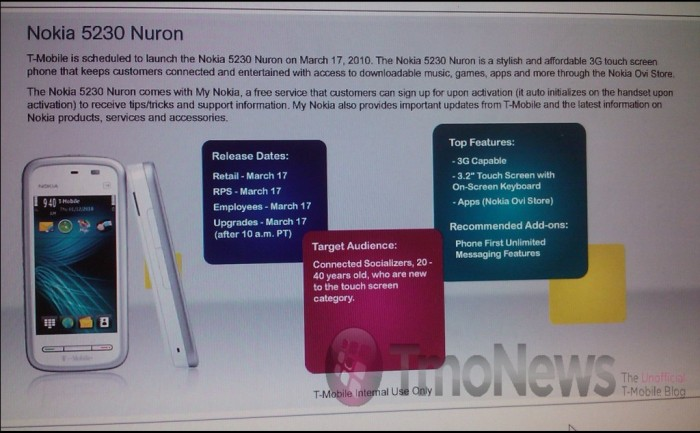 nuron 5230 News from the Nokia Nuron   it is a 5230