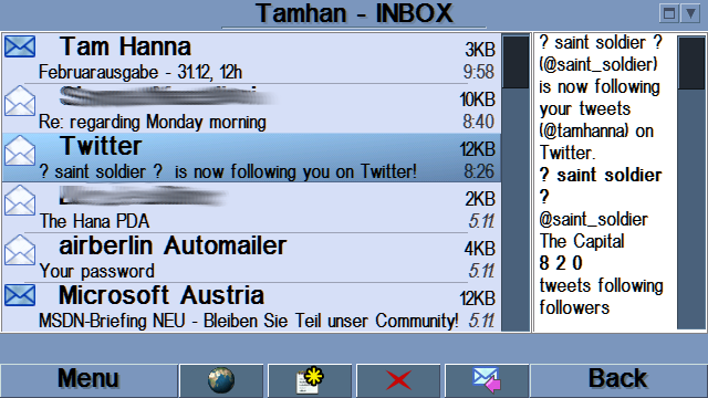 profimail 0 ProfiMail for Symbian   the review