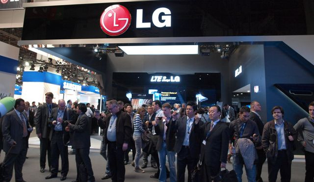 Mobile World Congress 2012   LG booth