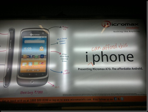 30082011035 thumb Micromax challenges iPhone in a visual add, price is what matters in the end