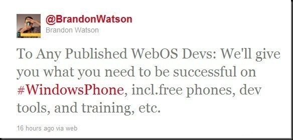 Brandon-Watson-webOS-tweet