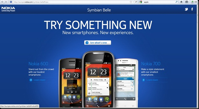Nokia belle official page thumb The Official Symbian Belle Page
