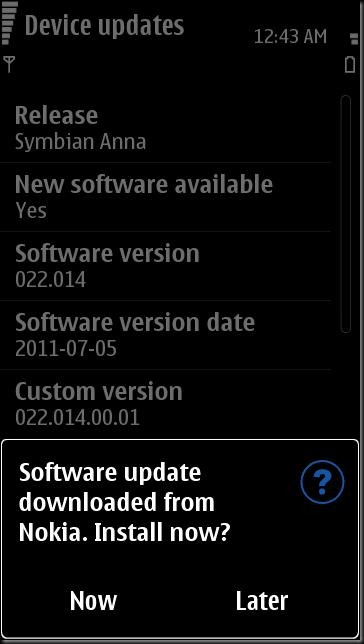 SC002 thumb Update time–N8 updated to v25, other S^3 devices updateable too?