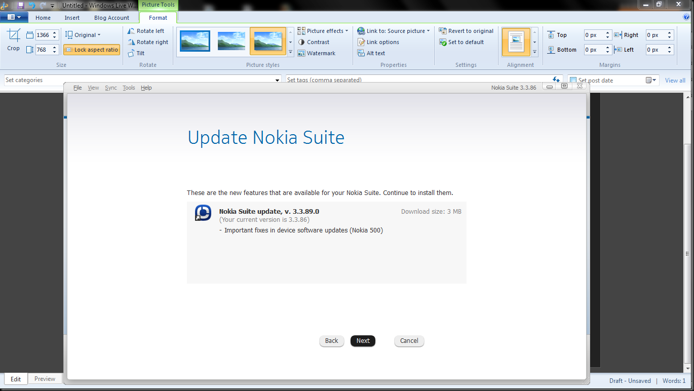 image thumb2 Update time–Nokia Suite updated to 3.3.90.0